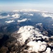 View of the mountains from the plane — Stock Photo