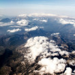 vista de las montañas desde el avión — Foto de Stock