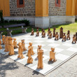 Outdoor woden chess — Stock Photo