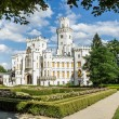 famous white castle hluboka nad vltavou — Stock Photo