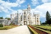 Famous white castle Hluboka nad Vltavou — Stock Photo