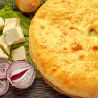 Russian Onion and Cheese Pie. — Stock Photo