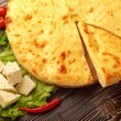 Ossetian Feta Cheese Pie. — 图库照片