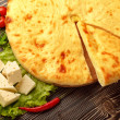 Ossetian Feta Cheese Pie. - 图库照片