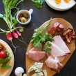 Antipasti plate - Stock Photo