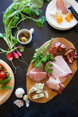 Antipasti plate — Stock Photo