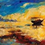 Постер, плакат: Boat in sea