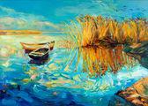 Baeutiful lake — Stock Photo