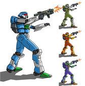Robot z broni — Wektor stockowy