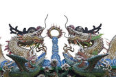 Twin Chinese dragon — Stock Photo