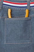 Nipper put in back pocket of jeans — Stock Photo