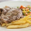 Rib eye steak - Stock Photo