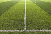 Green color Soccer field — Stock Photo