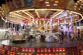 Carousel in funfair — Stock Photo