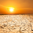 Stock Photo: Drought land and hot weather