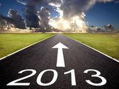 Road to the 2013 new year and sunrise background — Stok fotoğraf