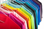 Colorful t-shirt isolated on white background — Stock Photo