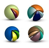 Info graphic spheres — Stock Vector