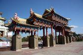 Near Buddhist Temple in Elista, Republic Kalmykia, Russian Federation — Stock Photo