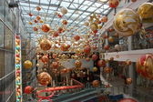 Holiday decoration in shopping mall — Stock Photo
