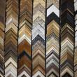Samples of wooden frames — Stock Photo
