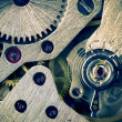 Macro Mechanical Gear Background / split toting — Stock Photo #11199735