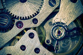 Macro Mechanical Gear Background / split toting — Stock Photo
