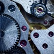 Macro Mechanical Gear / Clockwork Background — Stock Photo #11537975