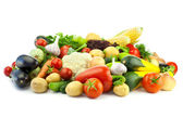 Healthy Eating / Assortment of Organic Vegetables / Isolated — Stock Photo