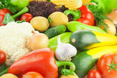 Organic Fresh Healthy Vegetables / Food Background — Stock Photo