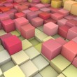 Stock Photo: Abstract 3d gradient backdrop cubes in happy fruity colors