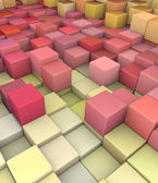 Abstract 3d gradient backdrop cubes in happy fruity colors — Stockfoto