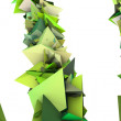 Foto Stock: 3d render growing shape in multiple shades of green