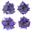 Stock Photo: 3d abstract purple spiked shape on white