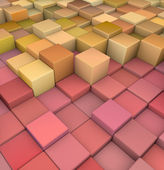 Abstract 3d cubes backdrop in red and orange yellow — Stock Photo