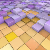 Abstract 3d cubes backdrop in orange yellow purple — Stock Photo