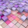 Abstract 3d cubes backdrop in  pink purple — Stock Photo