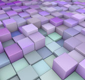 Abstract 3d cubes backdrop in purple blue — Stock Photo