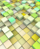 Abstract 3d cubes backdrop in yellow green — Stock Photo