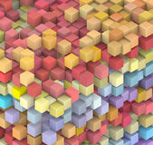 Rainbow color abstract 3d floating cube — Stock Photo