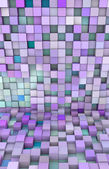 3d abstract backdrop in different shades blue purple — Stock Photo