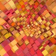 3d abstract fragmented pattern in pink orange red - Stock fotografie