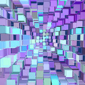 Abstract fragmented pattern blue purple backdrop — Stock Photo