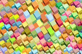 Fragmented rainbow color abstract pattern surface backdrop — Stock Photo