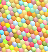 Fish scale rainbow color abstract pattern surface — Stock Photo