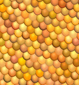 3d fish scale orange abstract pattern surface — Foto Stock