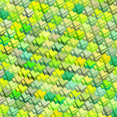 3d green yellow abstract pattern surface backdrop — Stock Photo