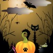 Stock Vector: Halloween critters