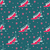 Paris seamless pattern — Vecteur