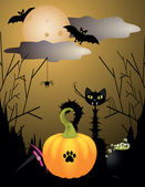 Halloween critters — Stock Vector